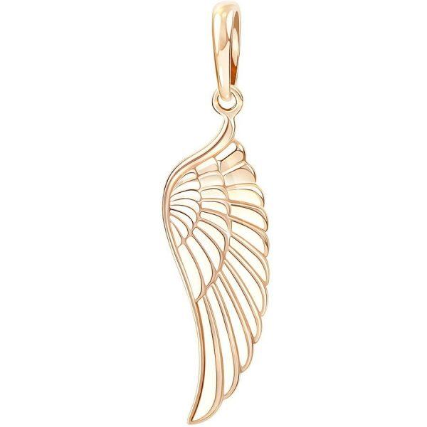 Подвеска в форме крыла ангела золотистого цвета
