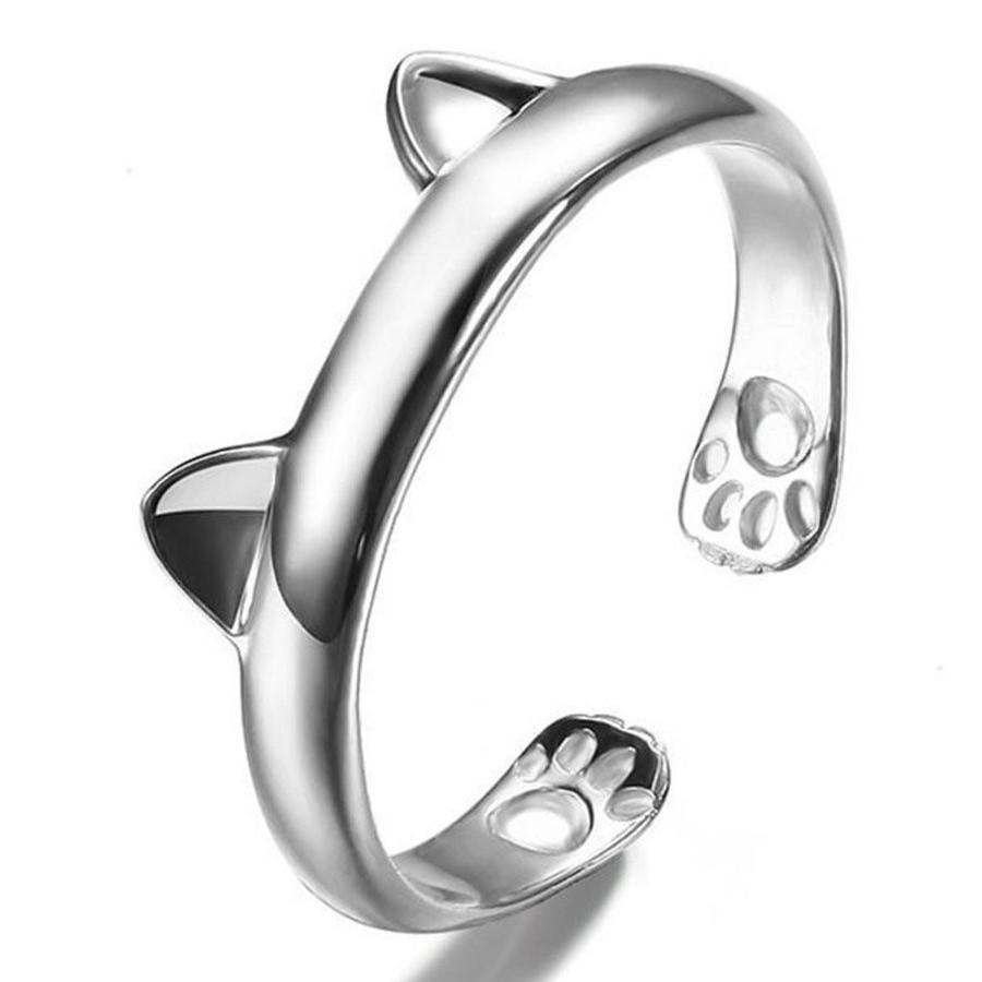 Кольцо с ушками кошечки