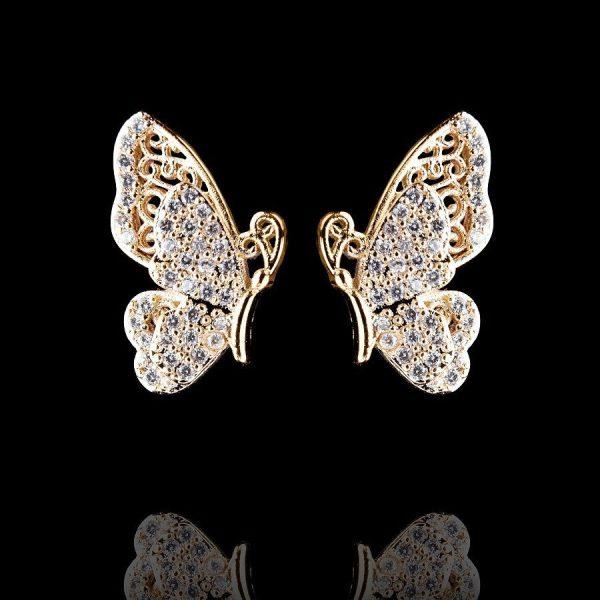 Серьги в форме крыльев бабочки