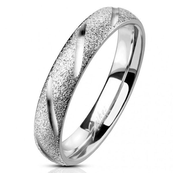 Простое кольцо из ювелирной стали серебристого цвета
