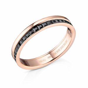 Обручальное кольцо Boucheron из золота с черной вставкой
