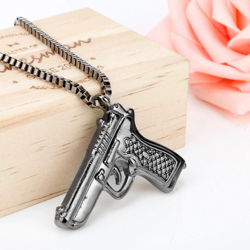 Кулон Пистолет с цепью