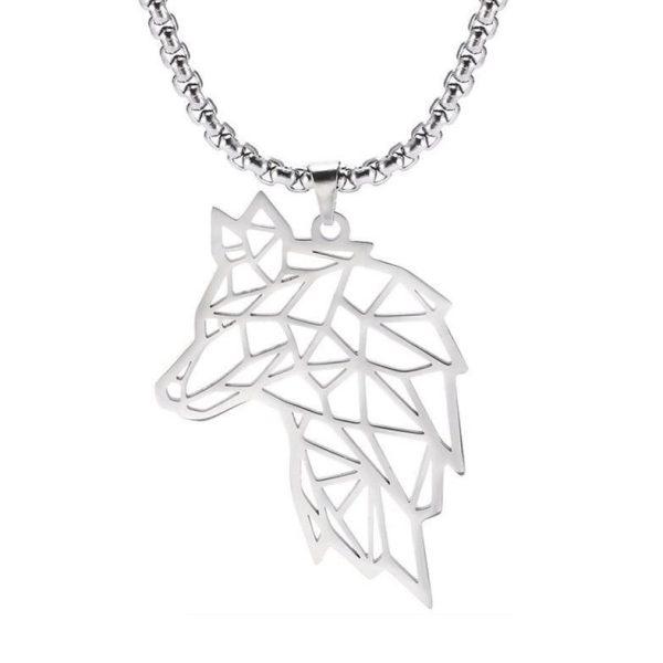 Кулон Волк серебристого цвета