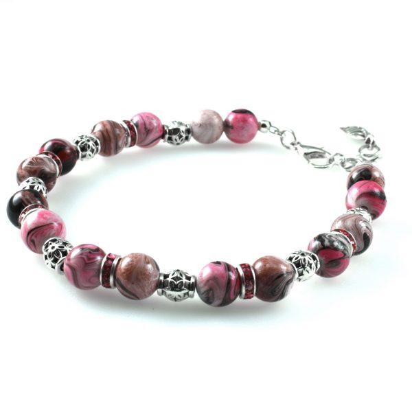 Розовый Женский браслет