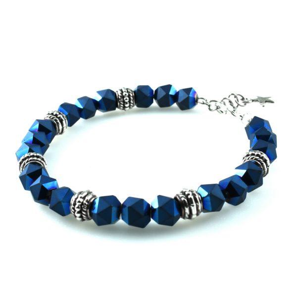 Синий женский браслет на руку