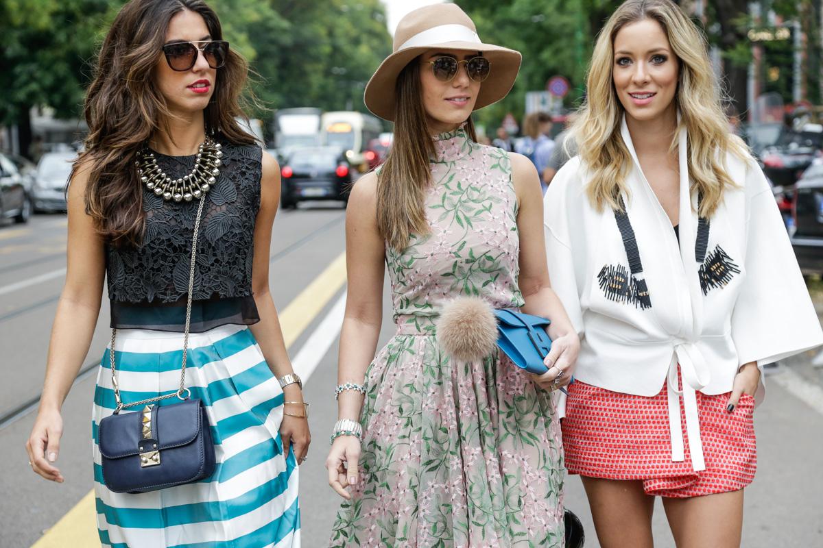 Девушки с разными стилями одежды
