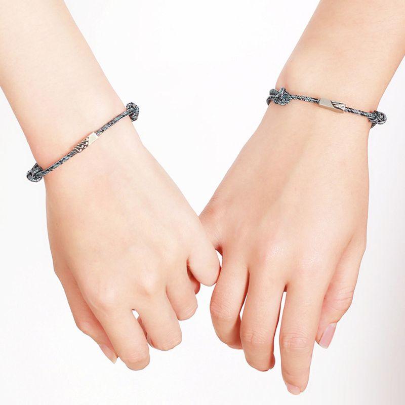 Тонкий браслет на руку для двоих