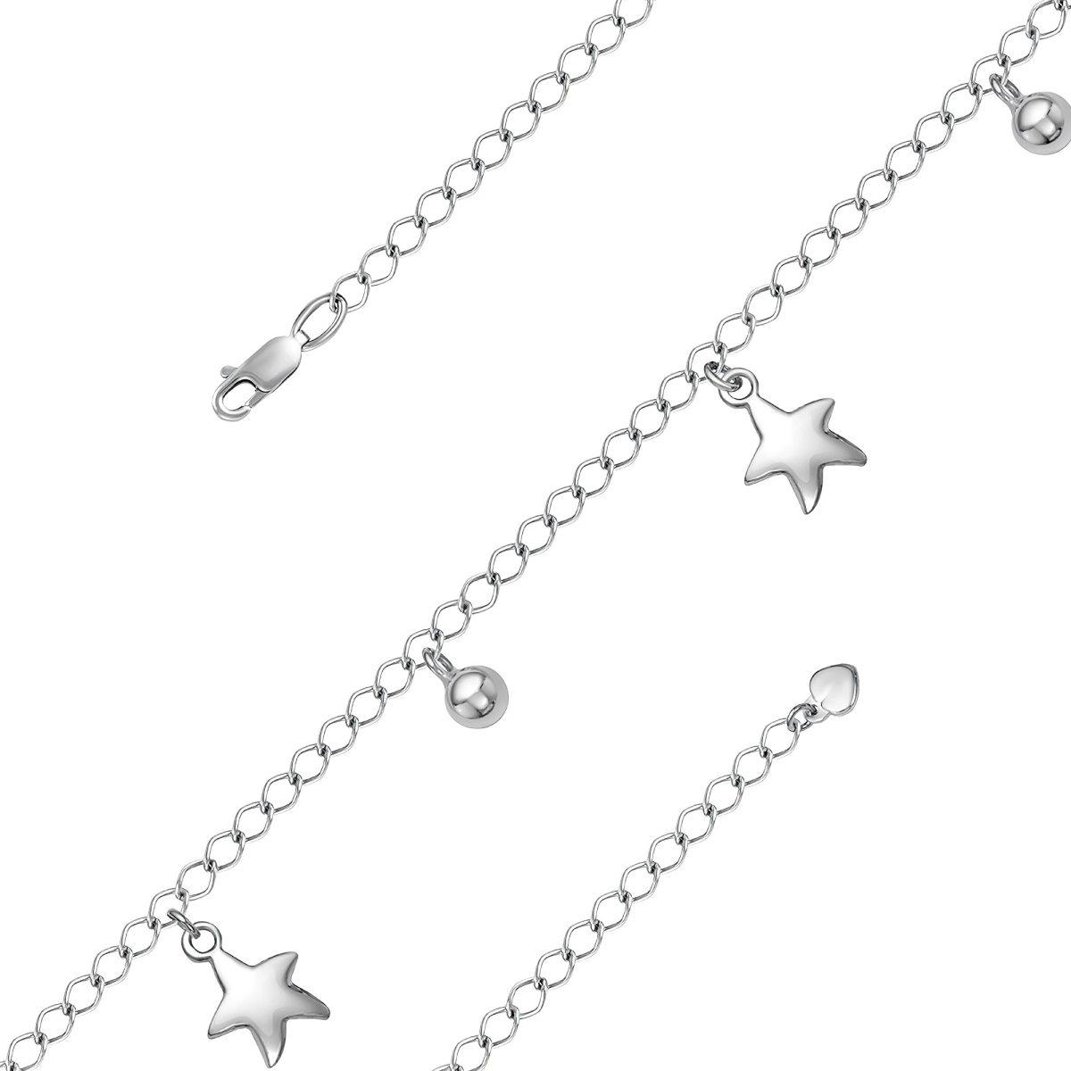 Симпатичный браслетик со звездочками