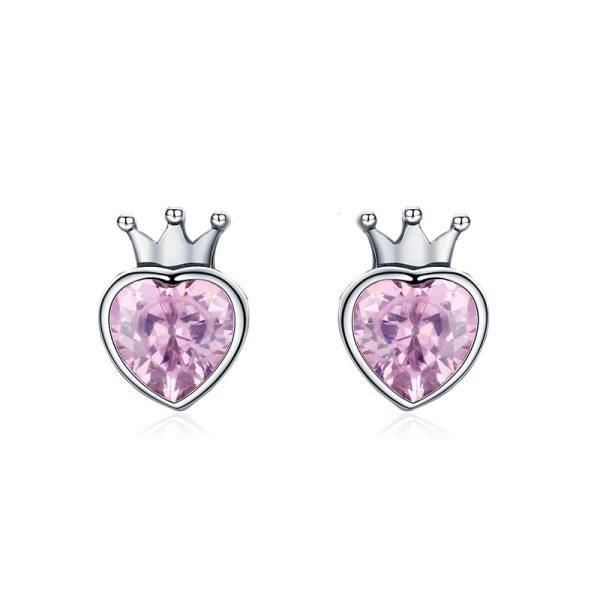 Сережки с фиолетовыми кристаллами