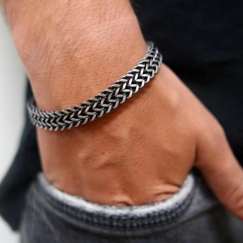 Модный мужской браслет из стали