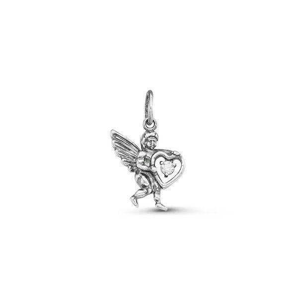 Подвеска Ангелок с кристаллом