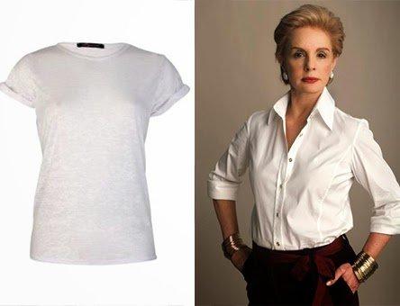 Майка и рубашка с подкатанными рукавами